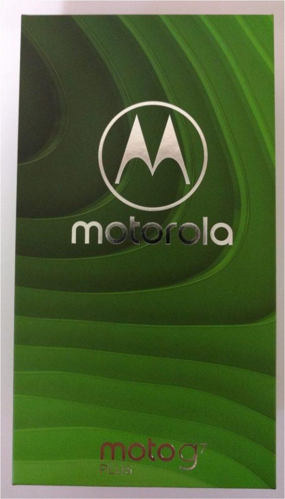 moto g7 PLUSの化粧箱