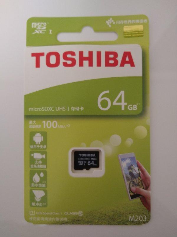 東芝製のSDカード