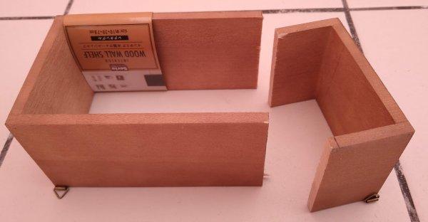 木製ウォールシェルフを切る