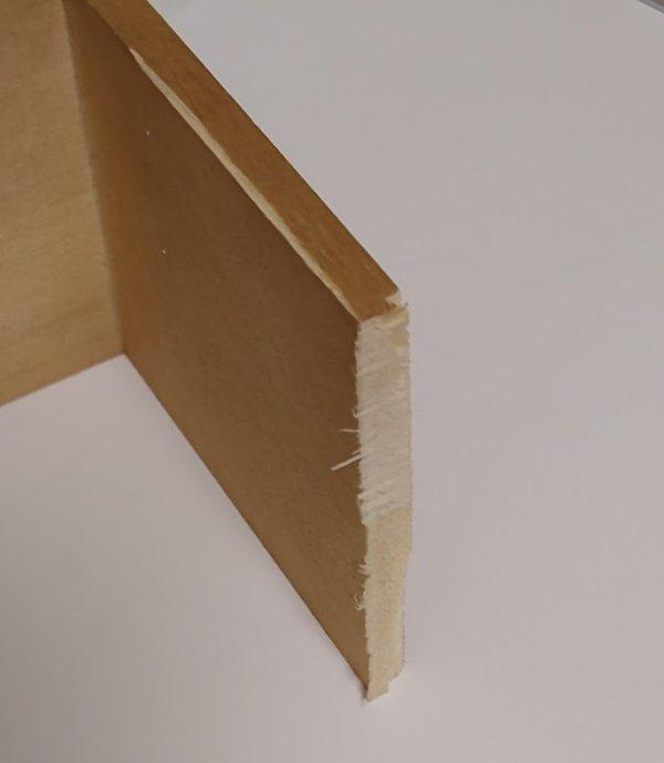 木製ウォールシェルフをL字型にする