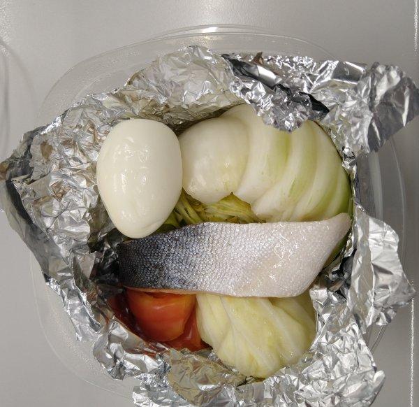 月曜断食中の昼食「ホイル焼き」の調理方法