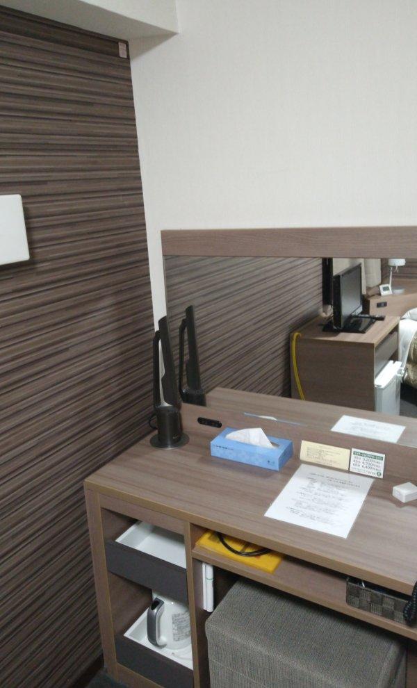 ハカタビジネスホテルの部屋を写真で紹介(部屋の奥)